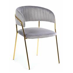 Krzesło tapicerowane Rarity Gold Gray