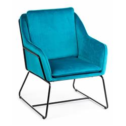 Fotel Stella Black Turquoise
