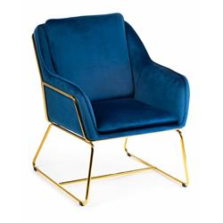 Fotel Stella Gold Blue