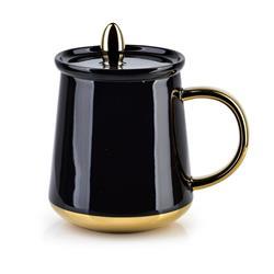 Kubek Basanti Black 380 ml z pokrywką
