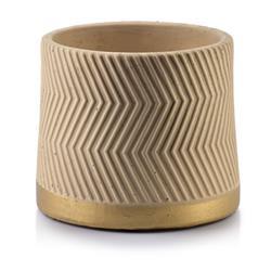 Doniczka ceramiczna Rosita Zigzak Beige