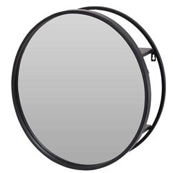 Półka ścienna z lustrem okrągła 50 cm