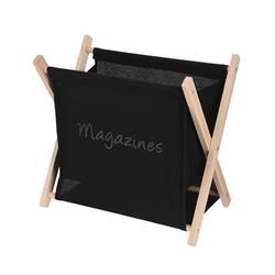 Składany gazetnik 30x32 cm - czarny