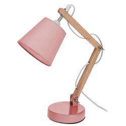 Lampka biurkowa z abażurem różowa