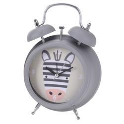 Budzik dla dzieci szary Zebra