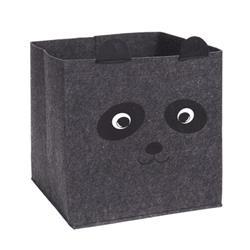 Kosz tekstylny na zabawki ciemno szary
