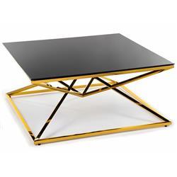Stolik kawowy Diamanto Gold Black 100 cm