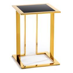 Stolik pomocnik Sawa Gold Black 40 cm