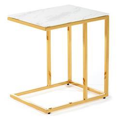 Stolik pomocnik Lurus Gold White 40 cm
