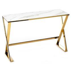 Konsola Huna Gold White 120 cm