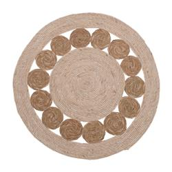 Dywan jutowy okrągły wzór koła 80 cm