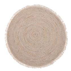Dywan jutowy okrągły z frędzlami 80 cm