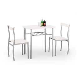 Zestaw Lance stół i 2 krzesła biały