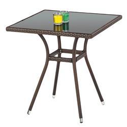 Ogrodowy stół Mobil ze szklanym blatem