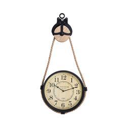 Zegar ścienny industrialny na sznurze