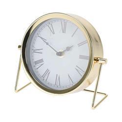 Zegar stołowy metalowy złoty Glamour