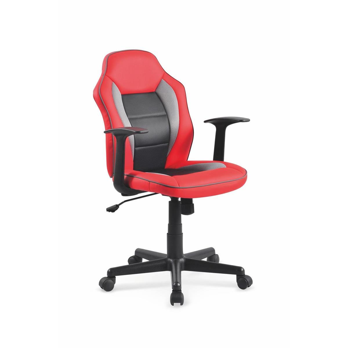 Fotel młodzieżowy Nemo czarno-czerwony