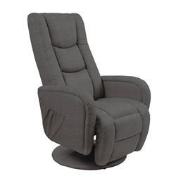 Fotel Pulsar z funkcją masażu popielaty
