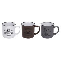 Komplet ceramicznych kubków Coffee wzór1