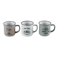 Komplet ceramicznych kubków Coffee wzór2