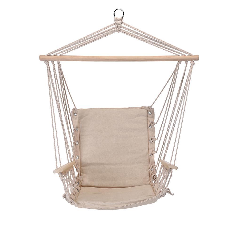 Kremowy fotel hamakowy siedzisko