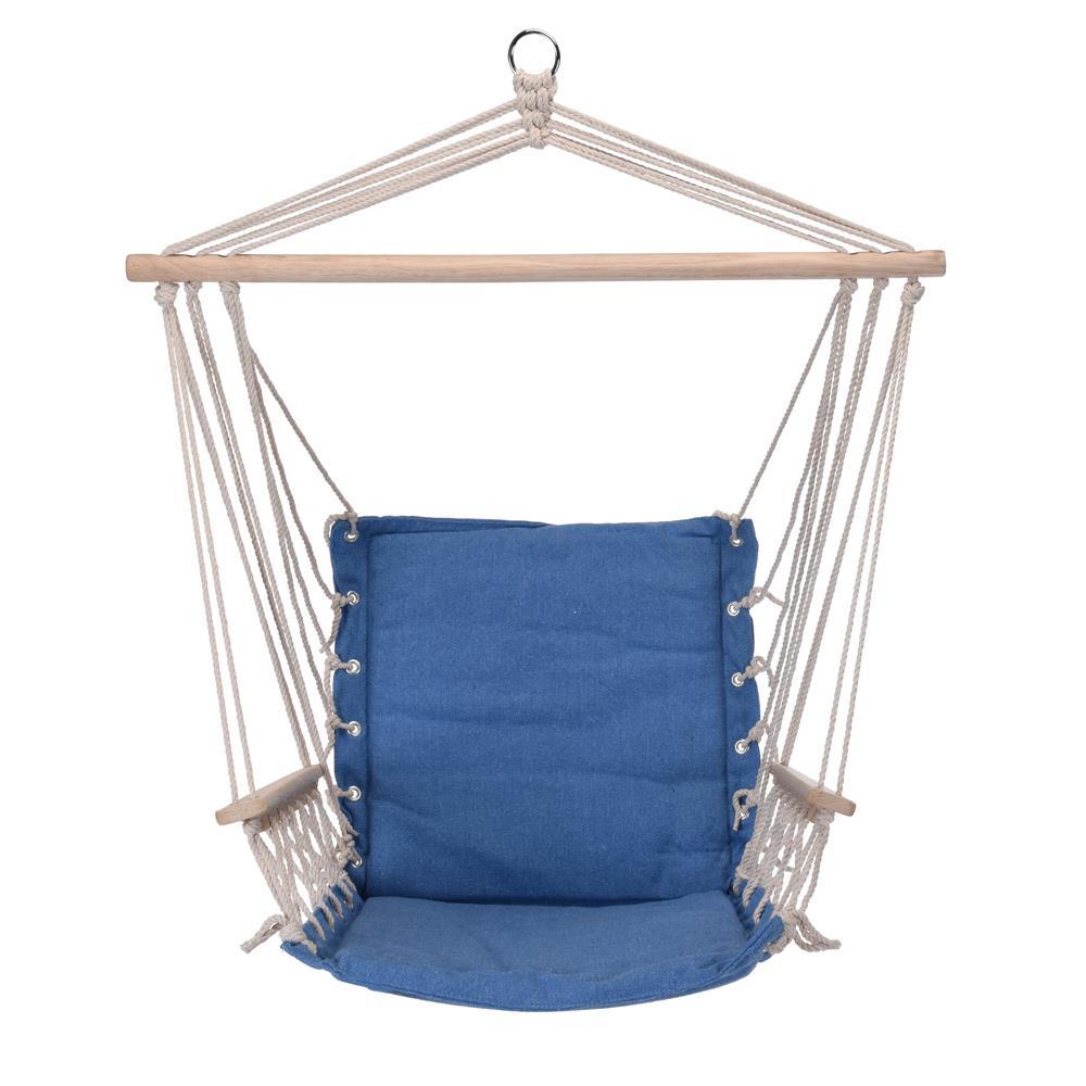 Fotel hamakowy siedzisko niebieski
