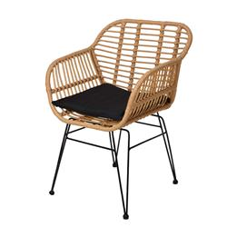 Krzesło rattanowe z poduszką