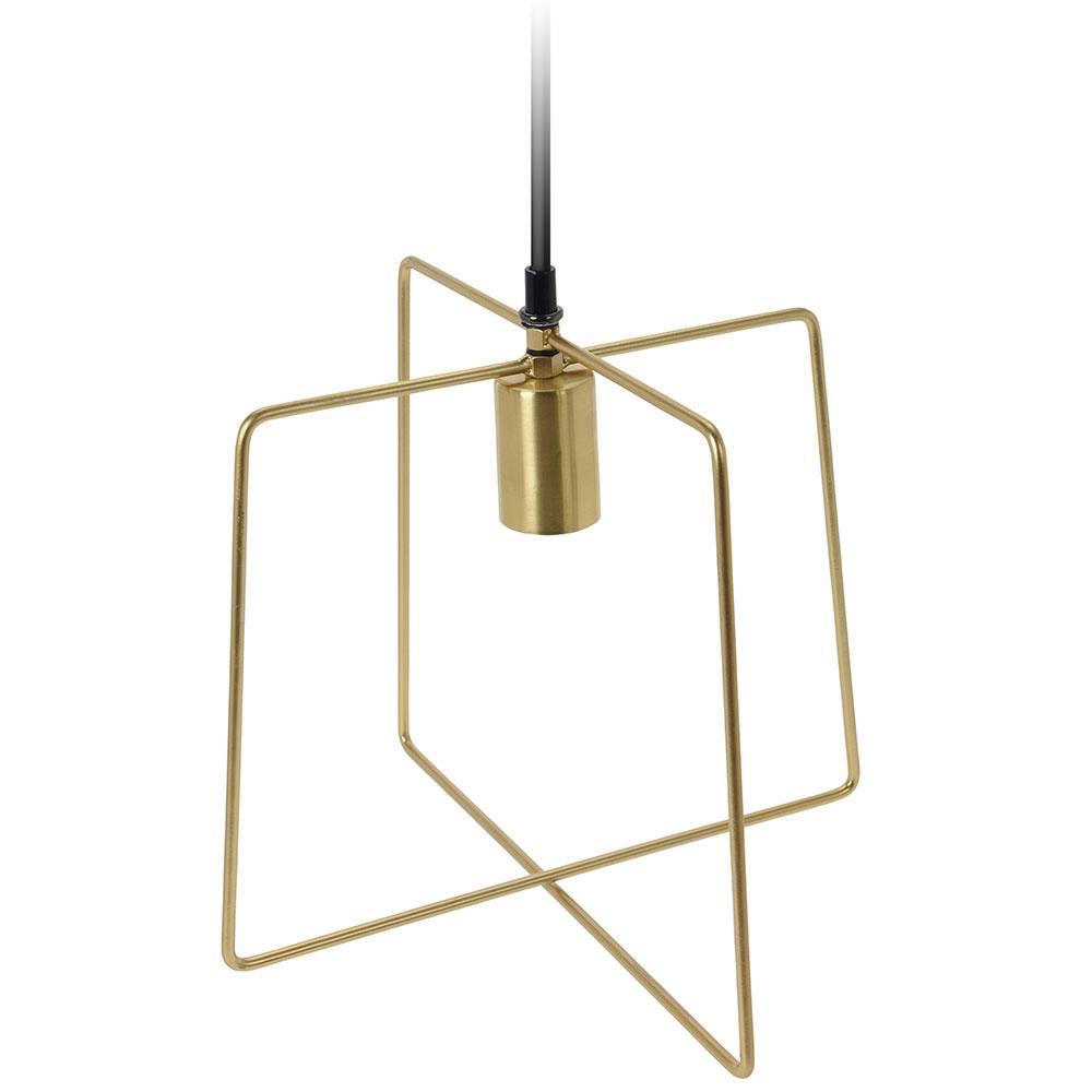 Lampa wisząca metalowa złota