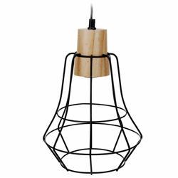 Metalowa lampa wisząca geometryczna