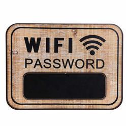 Tablica ścienna brązowa Wifi Password