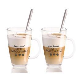 Szklanki do kawy latte + łyżeczki 300 ml
