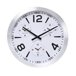 Nowoczesny zegar ścienny biały 45 cm
