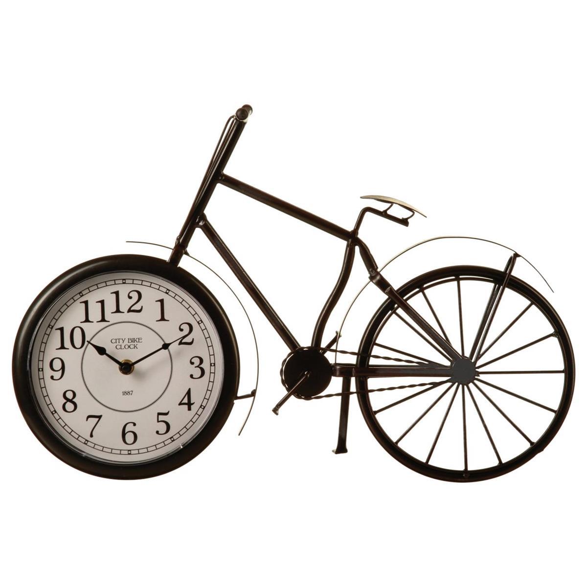 Zegar stołowy vintage w kształcie roweru