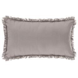 Poduszka z frędzlami 30x50 cm jasnoszara