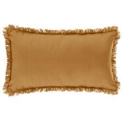 Poduszka z frędzlami 30x50 cm żółta