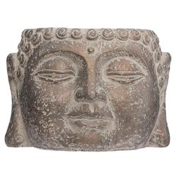 Cementowa doniczka Budda brązowa