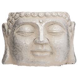 Cementowa doniczka Budda srebrna