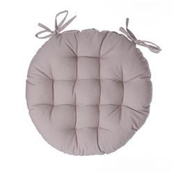 Okrągła poduszka na krzesło beżowa