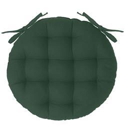 Okrągła poduszka na krzesło zielona