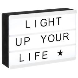 Lampka LED ozdabiana napisami