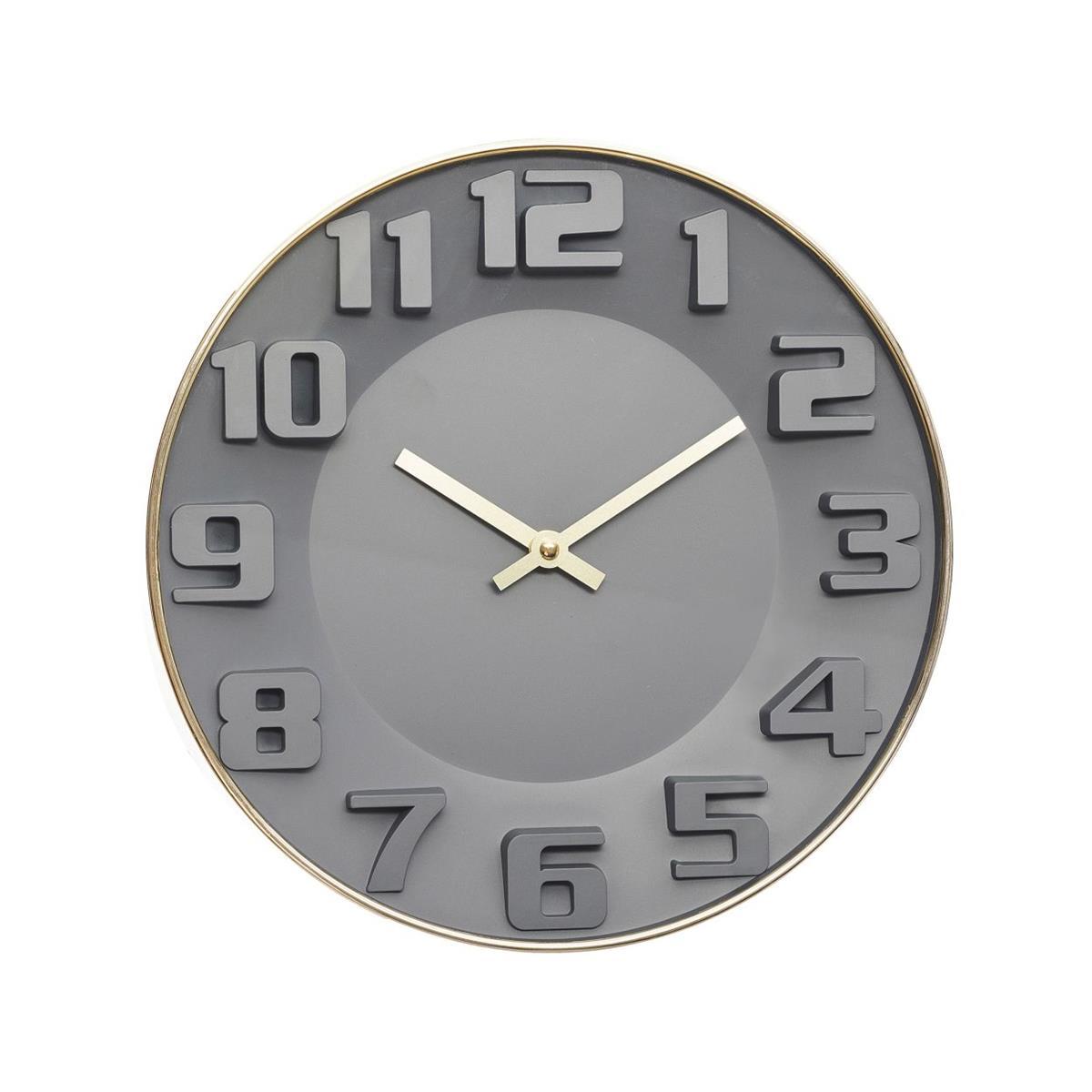 Zegar ścienny 3D Malcolm 30 cm