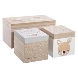 Komplet 3 pudełek z motywem jelonka