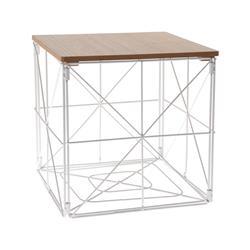 Stolik kawowy geometryczny biały
