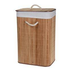 Kosz na pranie bambusowy brązowy