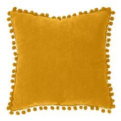 Poduszka Pompons 40x40 cm żółta