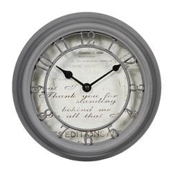 Zegar ścienny Romance Grey 22 cm