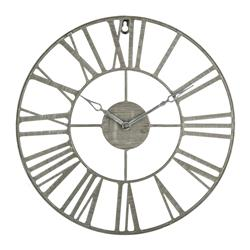 Zegar ścienny vintage szary 36,5 cm