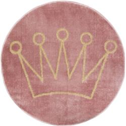 Okrągły dywan dla dzieci Crown 80 cm
