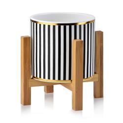 Doniczka Ava Black Stripes