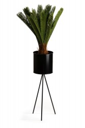 Kwietnik stojący 65 cm  czarny LOFT